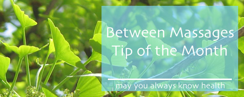 Massage Tip of the Month - your health is my goal